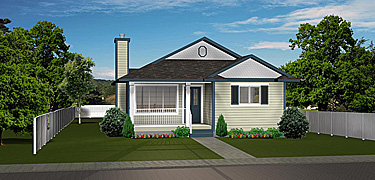 Bungalow House Plans - 30-40 Ft  Wide - Edesignsplans ca