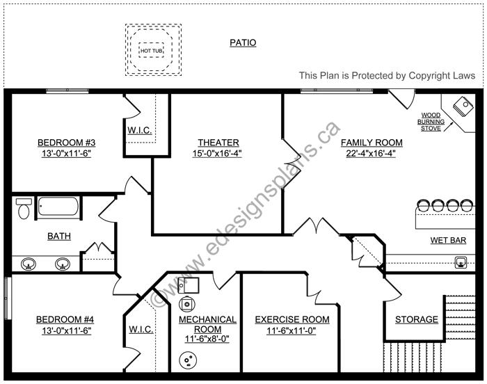 Bungalow House Plan 2011545 | Edesignsplans.ca