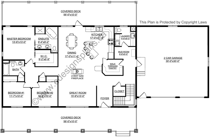 Bungalow house plan 2011545 for Edesign plans