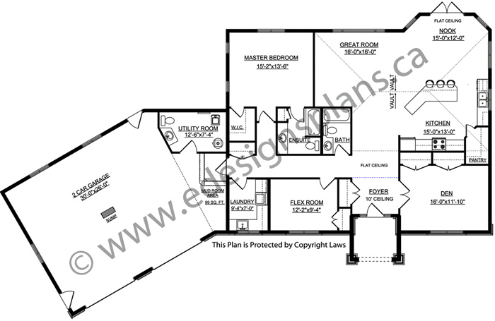 Bungalow house plan 2011559 for Edesign plans