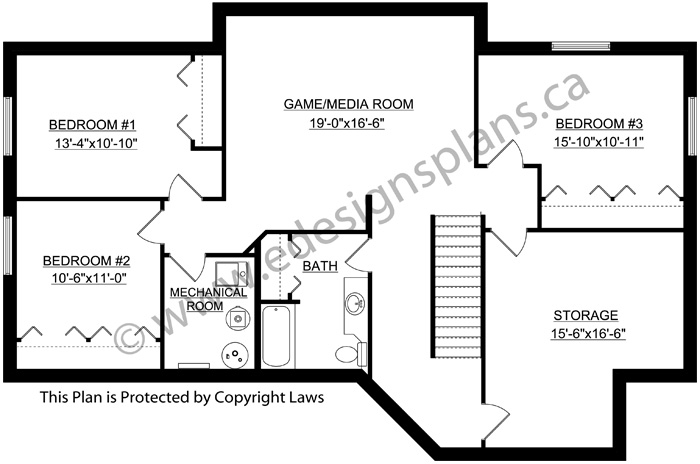 Bungalow house plan 2011567 for Edesign plans