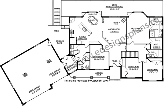 Bungalow house plan 2011585 for Edesign plans