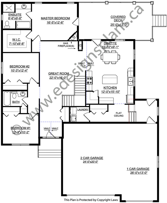 Bungalow house plan 2011589 for Edesign plans