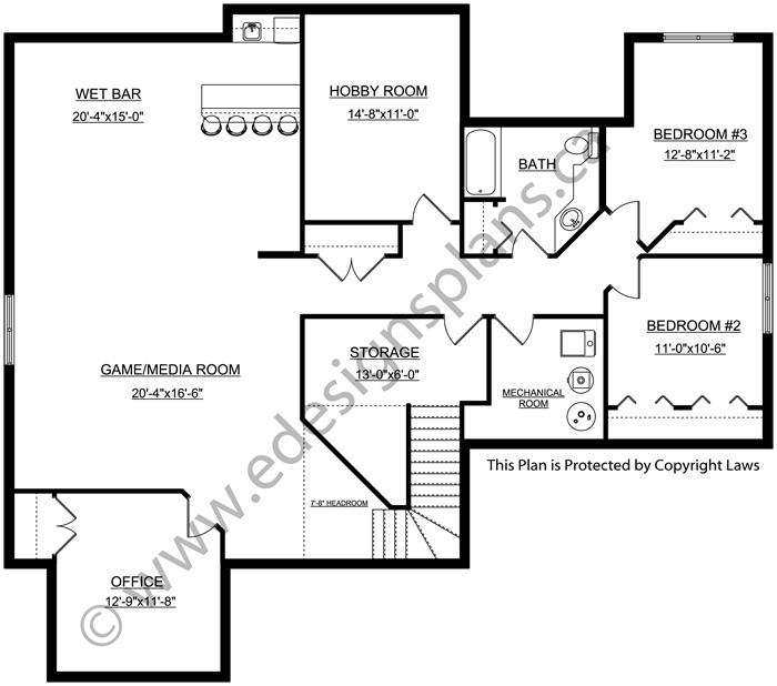 Bungalow House Plan 2012637