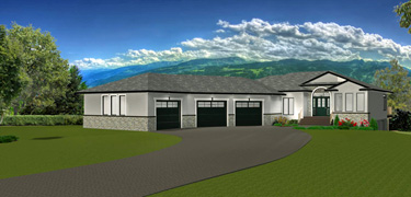 Bungalow  House  Plans  with Walkout  Basements  Edesignsplans ca