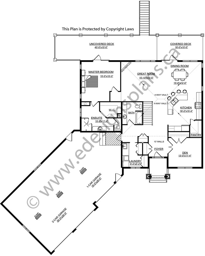 Bungalow house plan 2014783 for Edesign plans