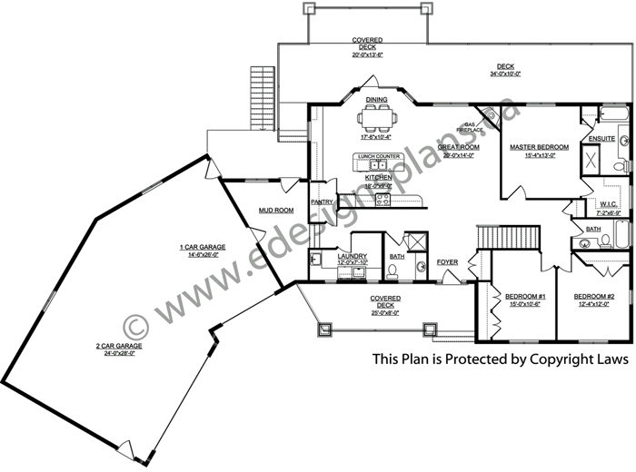 Bungalow house plan 2014805 for Edesign plans