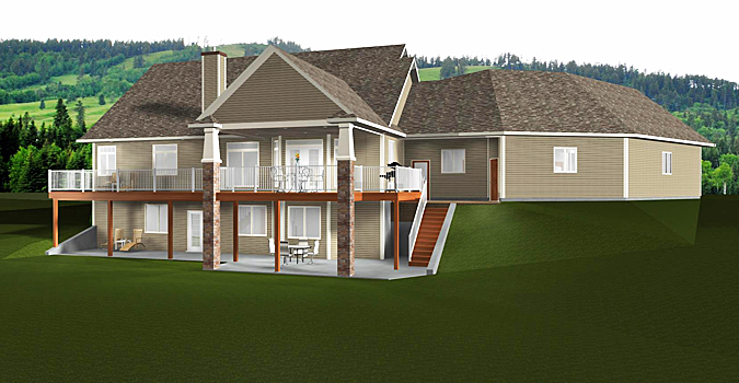 Bungalow house plan 2014805 for Bungalow with walkout basement