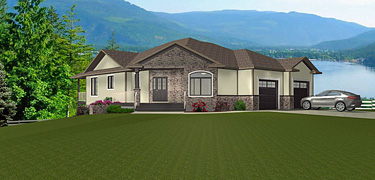 Bungalow house plans with walkout basements for Bungalow with walkout basement