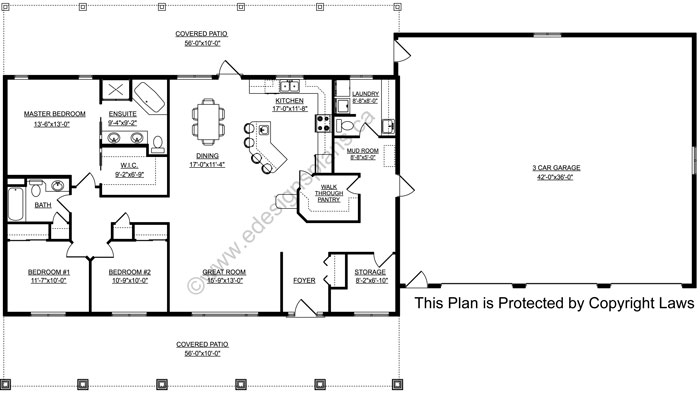 Bungalow house plan 2015875 for Edesign plans