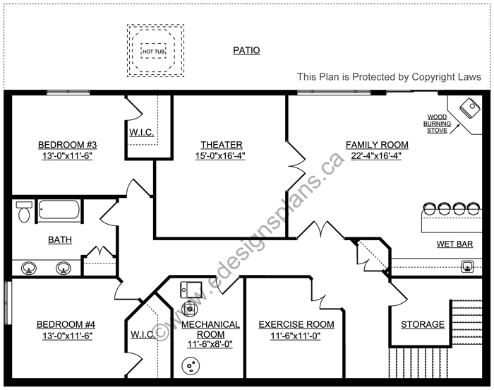 Bungalow House Plan 2017118   Edesignsplans.ca