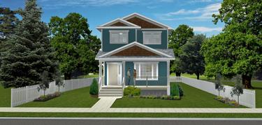 2-Storey House Plans Without Attached Garage on