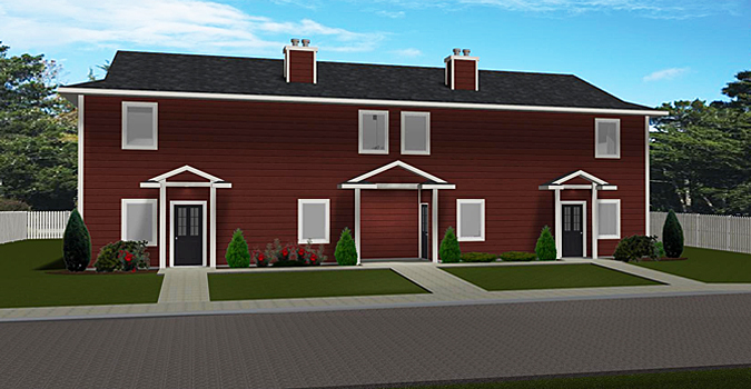 4 plex plan 2009454 by for Cost to build 4 plex