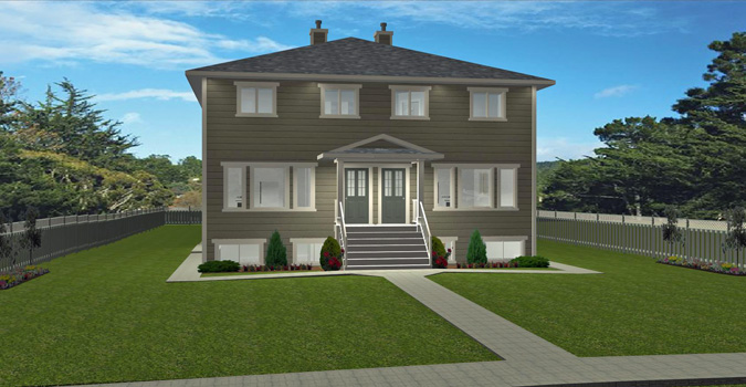 4 plex plan 2009485 by for Cost to build 4 plex