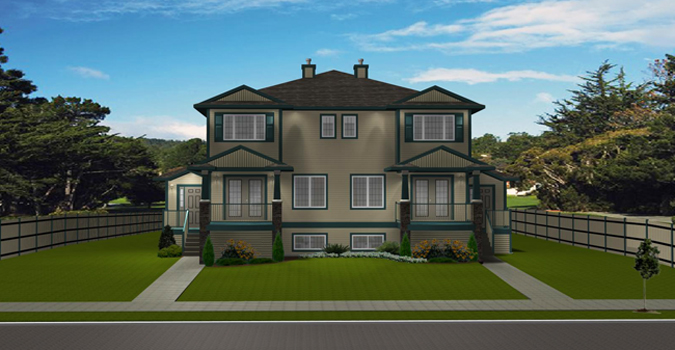4 plex plan 2011544 by for Cost to build 4 plex