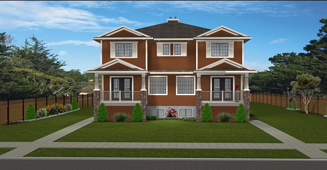 4 plex plan 2011576 by for Cost to build 4 plex