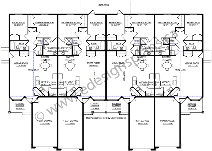 4 plex house plans 28 images access garage plans nm for Modular 4 plex