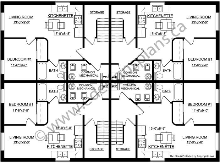 4 plex plan 2011599 for Edesign plans