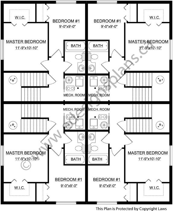 4 plex plan 2012646 for Edesign plans