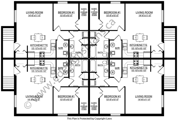4 plex plan 2013746 for Edesign plans