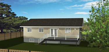 Bi level house plans without garage by for Bi level home plans with garage