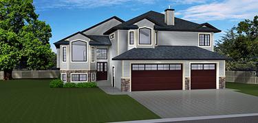 Bi level house plans split level home plans for Edesign plans