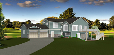 Bi Level House Plans With Walkout Basements By Edesignsplans Ca