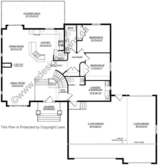 half basement garage bi level plan 2015850