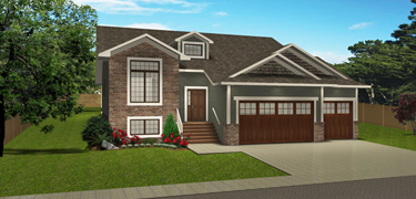 Bi level house plans split level home plans for Split level house plans with attached garage