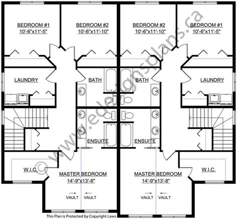 Duplex plan 2011575 by for Edesign plans