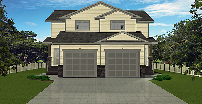 Duplex plan 2013702 by for Edesign plans