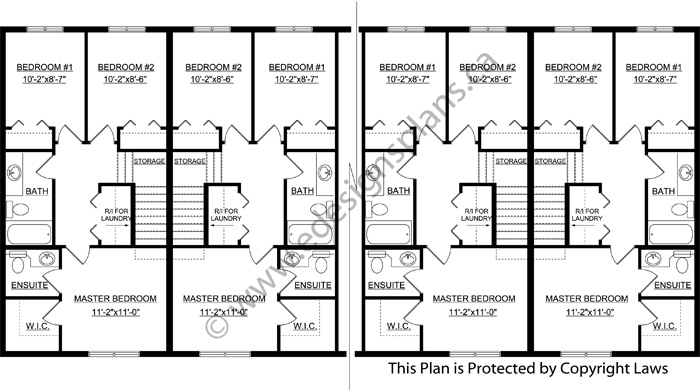 8 plex plan 2015877 by for Cost to build 4 plex